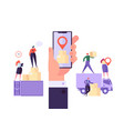 online cargo delivery mobile app tracking service vector image