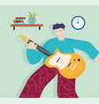 people activities young man with guitar music vector image vector image