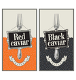 red and black caviar vector image