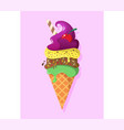 retro vintage logotype of ice cream vector image vector image