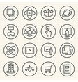 rounded line icons for virtual reality innovation vector image vector image