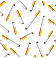 seamless pattern with cigarette butts on vector image