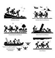 search and rescue operations depict sar operation vector image vector image