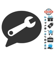 Service Message Icon With Free Bonus vector image vector image