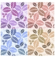 Set of floral seamless patters vector image vector image