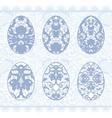 Set of gentle lacy eggs vector image