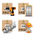Shipment Icons Set 30 vector image vector image