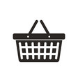shopping basket simple black icon on white vector image
