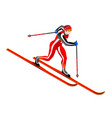 ski cross-country clipart vector image vector image