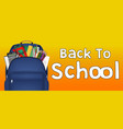 student bag with study object inside vector image vector image