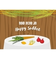 Sukkah with ornaments table vector image
