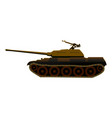 tank t-34 in the deserted disguise vector image