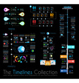 Timeline infographic design templates set 1 on