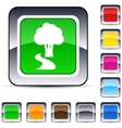 tree square button vector image vector image