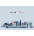 Washington DC Skyline Flat Design vector image