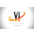 yi y i letter logo with fire flames design and vector image vector image