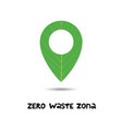 zero waste zone green location icon eco icon vector image
