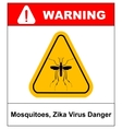 Zika virus Danger Mosquitoes symbol vector image