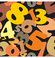 Seamless texture made of numbers vector image