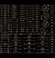 thin golden design elements vector image