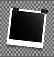 frame with binder clip vector image