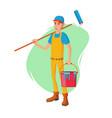 male house painter classic paintbrush vector image