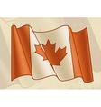 Vintage Canadian Flag vector image
