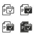 planning calendar icon set vector image