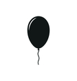 Simple black icon of one Balloon on white vector image