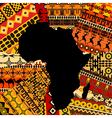 Africa map ethnic background vector image vector image