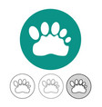 animal footprint icon vector image