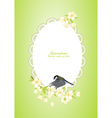 birds and flower vector image vector image