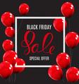 black friday sale balloon concept of discount vector image vector image