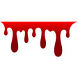 blood drip drop blood isloated white background vector image