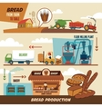 Bread production stages vector image