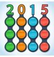 Calendar 2015 metaball background vector image