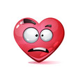 cartoon character heart love smiley vector image vector image