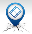 Cinema blue icon in crack vector image vector image