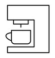 coffee machine thin line icon coffee maker vector image vector image
