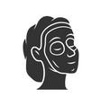cosmetic facial clay mask glyph icon feminine vector image