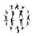 dances simple icons set vector image vector image