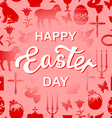 easter cet red text vector image vector image