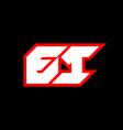 ei logo design initial ei letter design vector image vector image