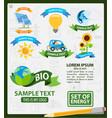 energetics logos energetics infographics vector image vector image