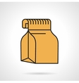 Food pack flat icon vector image vector image
