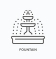 fountain flat line icon outline vector image vector image