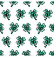 four-leaf clover leaves on white seamless vector image vector image