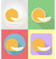 fruits flat icons 04 vector image vector image