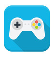 Game console flat app icon with long shadow vector image vector image