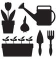 garden sil set vector image vector image